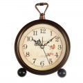 Konigswerk Old Fashioned Alarm Shelf  Clock (Roses) AC105G
