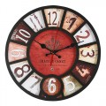 Konigswerk Retro Real Wooden Wall Clock, No Ticking Noiseless Quartz - Easy to Read and Hang Home Office School Round Clock (Crown)